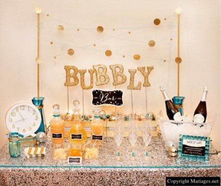 bubbly bar mariage