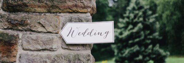 mariage panneau